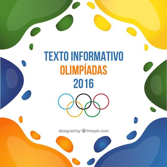 Textos informativos sobre olimpíadas
