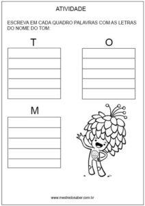 Lista de palavras Mascote Tom Olímpiadas