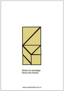 Livro com imagens de tangram