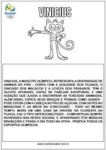 Mascote Vinicius Olimpíadas