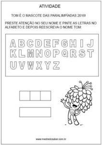 Olimpíadas Alfabeto Tom