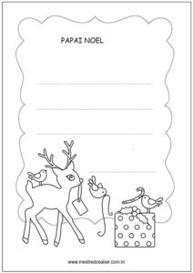 Desenhos de natal para colorir - Carta