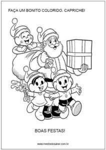 Papai Noel e turma da Mônica