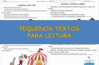 Textos Curtos: Pequenos Textos para Leitura