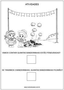 Projeto festa junina educação infantil - bandeirinhas