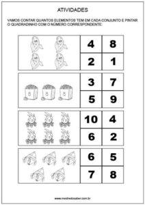 Projeto festa junina educação infantil - numeros