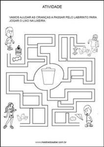 Projeto meio ambiente Educação infantil - Labirinto