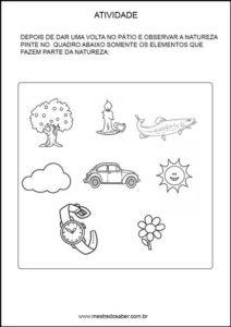 Projeto meio ambiente Educação infantil - Pinte os elementos da natureza