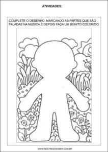 Sequência Didática esquema corporal na educação infantil - cabeça, ombro, joelho e pé