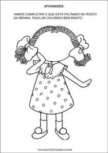 Sequência Didática esquema corporal na educação infantil - Completar o rosto