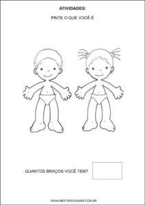 Sequência Didática esquema corporal na educação infantil - Pinte o que você é