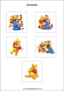 Atividades contando com o ursinho pooh - recorte