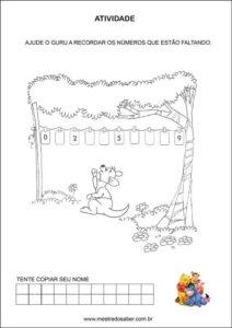 Atividades contando com o ursinho pooh - complete