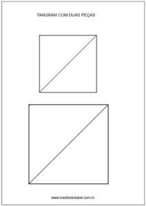 Tangram imagens - Duas peças