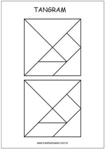 Tangram para recortar e montar figuras