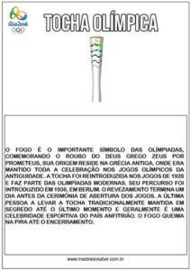Tocha Olímpica texto informativo