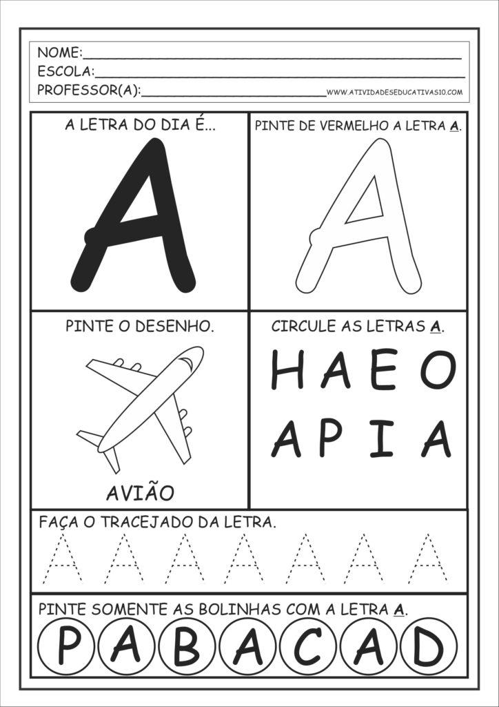 A - Alfabeto Educação Infantil