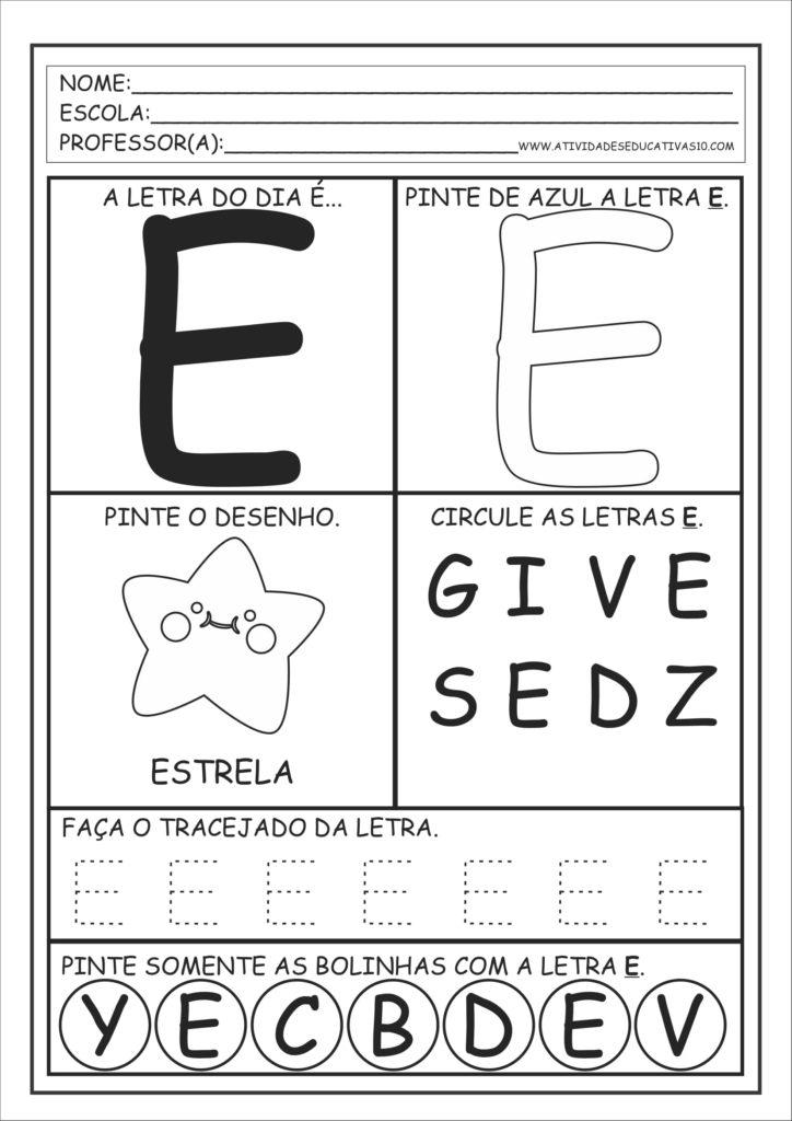 E - Alfabeto Educação Infantil