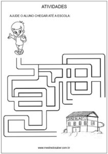 Sugestão de atividades e mensagem de volta às aulas - labirinto
